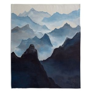 Decorative Fleece Throw Blankets | Lam Fuk Tim - Misty Mountains l