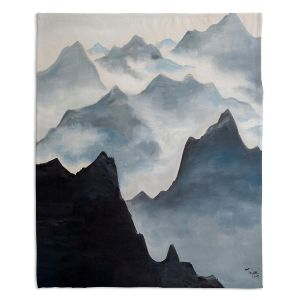 Decorative Fleece Throw Blankets | Lam Fuk Tim - Misty Mountains ll