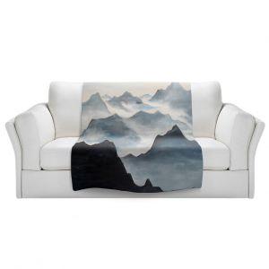 Artistic Sherpa Pile Blankets   Lam Fuk Tim - Misty Mountains ll