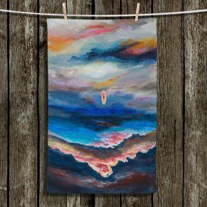 Unique Bathroom Towels | Lam Fuk Tim - Moonscape 1 | landscape abstract