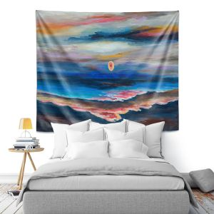 Artistic Wall Tapestry | Lam Fuk Tim - Moonscape 1 | landscape abstract