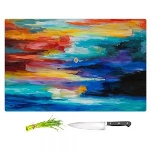 Artistic Kitchen Bar Cutting Boards | Lam Fuk Tim - Moonscape 2 | landscape abstract