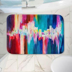 Decorative Bathroom Mats | Lam Fuk Tim - Rainbow EQ 1 | abstract pattern lines