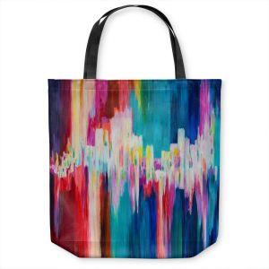 Unique Shoulder Bag Tote Bags   Lam Fuk Tim - Rainbow EQ 1   abstract pattern lines