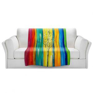 Artistic Sherpa Pile Blankets   Lam Fuk Tim - Rainbow Tree ll