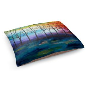 Decorative Dog Pet Beds | Lam Fuk Tim - Rainbow Trees 1 | landscape surreal forest nature