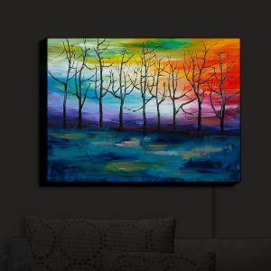 Nightlight Sconce Canvas Light | Lam Fuk Tim - Rainbow Trees 1