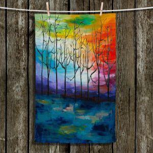 Unique Bathroom Towels | Lam Fuk Tim - Rainbow Trees 1 | landscape surreal forest nature