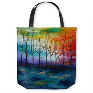 Unique Shoulder Bag Tote Bags   Lam Fuk Tim - Rainbow Trees 1   landscape surreal forest nature