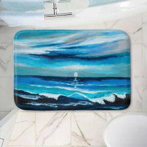 Decorative Bathroom Mats   Lam Fuk Tim - Seaside Moon Waves 1   landscape ocean water sea