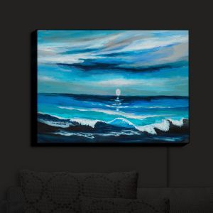 Nightlight Sconce Canvas Light | Lam Fuk Tim - Seaside Moon Waves 1
