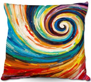 Unique Outdoor Pillow 18X18 from DiaNoche Designs by Lam Fuk Tim - Spiral II