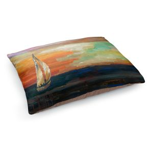 Decorative Dog Pet Beds | Lam Fuk Tim - Sunset Sailing 1 | abstract ocean sea waves