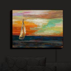 Nightlight Sconce Canvas Light | Lam Fuk Tim - Sunset Sailing 1