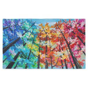 Artistic Pashmina Scarf | Lam Fuk Tim - Treetop Colorful 1 | nature surreal forest trees