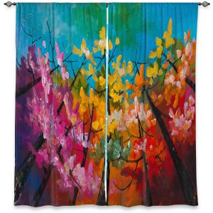 Decorative Window Treatments | Lam Fuk Tim - Treetop Colorful 3 | nature surreal forest trees