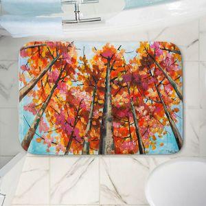 Decorative Bathroom Mats | Lam Fuk Tim - Treetop Red | nature surreal forest trees
