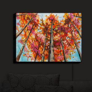 Nightlight Sconce Canvas Light | Lam Fuk Tim - Treetop Red