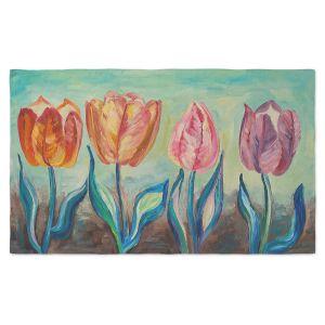 Artistic Pashmina Scarf | Lam Fuk Tim - Tulips 1 | nature flower
