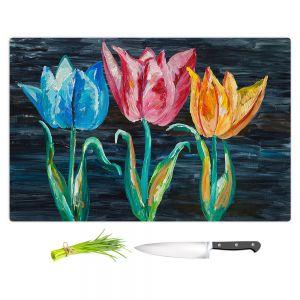 Artistic Kitchen Bar Cutting Boards | Lam Fuk Tim - Tulips 3 | nature flower