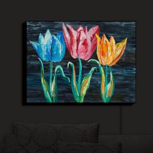 Nightlight Sconce Canvas Light | Lam Fuk Tim - Tulips 3