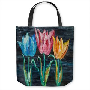Unique Shoulder Bag Tote Bags | Lam Fuk Tim - Tulips 3 | nature flower