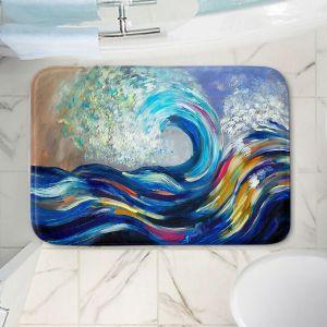Decorative Bathroom Mats   Lam Fuk Tim - Wave Rolling Rainbow