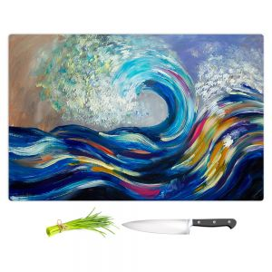 Artistic Kitchen Bar Cutting Boards | Lam Fuk Tim - Wave Rolling Rainbow