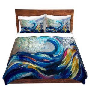 Artistic Duvet Covers and Shams Bedding   Lam Fuk Tim - Wave Rolling Rainbow