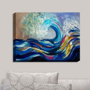 Decorative Canvas Wall Art | Lam Fuk Tim - Wave Rolling Rainbow | Waves Ocean