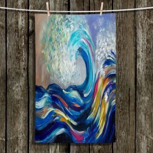 Unique Hanging Tea Towels | Lam Fuk Tim - Wave Rolling Rainbow | Waves Ocean