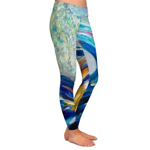 Casual Comfortable Leggings | Lam Fuk Tim - Wave Rolling Rainbow