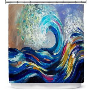 Premium Shower Curtains | Lam Fuk Tim - Wave Rolling Rainbow