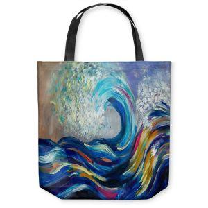 Unique Shoulder Bag Tote Bags |Lam Fuk Tim - Wave Rolling Rainbow