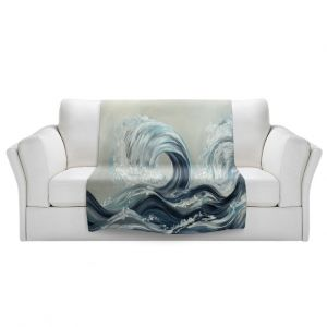 Artistic Sherpa Pile Blankets   Lam Fuk Tim - Wave Rolling l