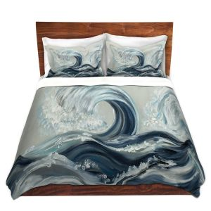 Artistic Duvet Covers and Shams Bedding | Lam Fuk Tim - Wave Rolling l
