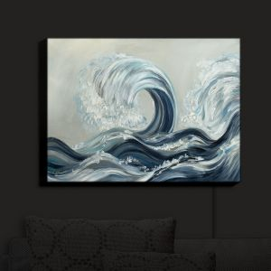 Nightlight Sconce Canvas Light | Lam Fuk Tim - Wave Rolling I | Waves Ocean