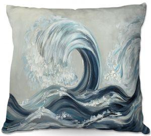 Decorative Outdoor Patio Pillow Cushion | Lam Fuk Tim - Wave Rolling l