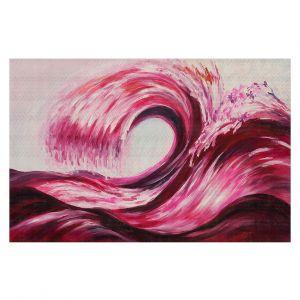 Decorative Floor Covering Mats | Lam Fuk Tim - Wave Rolling 1 Pink | water sea ocean