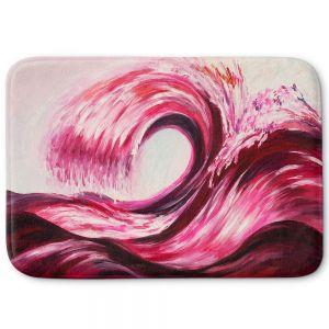 Decorative Bathroom Mats | Lam Fuk Tim - Wave Rolling 1 Pink | water sea ocean
