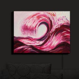 Nightlight Sconce Canvas Light | Lam Fuk Tim - Wave Rolling 1 Pink