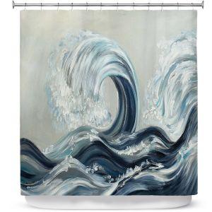 Premium Shower Curtains | Lam Fuk Tim - Wave Rolling l