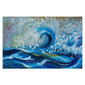 Decorative Floor Covering Mats | Lam Fuk Tim - Wave Rolling 3 | water sea ocean