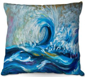 Unique Throw Pillows from DiaNoche Designs by Lam Fuk Tim - Wave Rolling 3   20X20