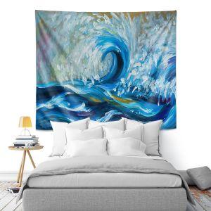 Artistic Wall Tapestry | Lam Fuk Tim - Wave Rolling 3 | water sea ocean