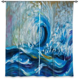 Decorative Window Treatments | Lam Fuk Tim - Wave Rolling 3 | water sea ocean