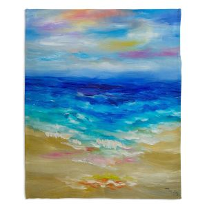 Decorative Fleece Throw Blankets | Lam Fuk Tim - Waves Abstract lll