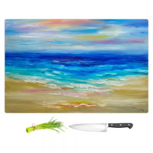 Artistic Kitchen Bar Cutting Boards | Lam Fuk Tim - Waves Abstract lll
