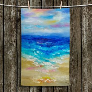 Unique Hanging Tea Towels | Lam Fuk Tim - Waves Abstract lll | Ocean Beach