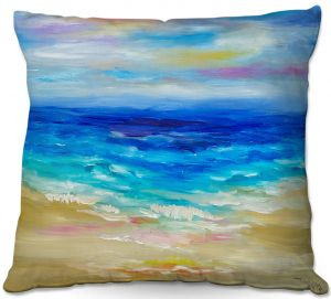 Unique Outdoor Pillow 18X18 from DiaNoche Designs by Lam Fuk Tim - Waves Abstract lll
